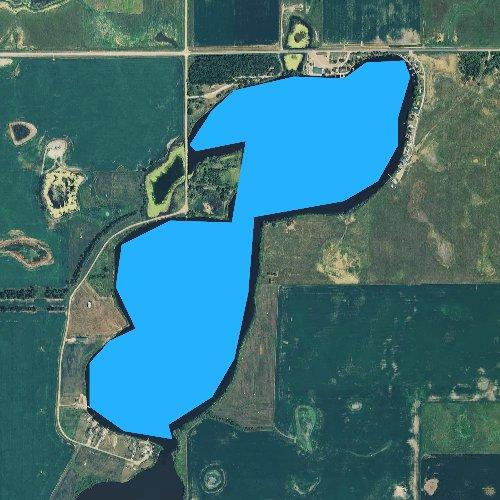 Fly fishing map for Twin Lakes, South Dakota