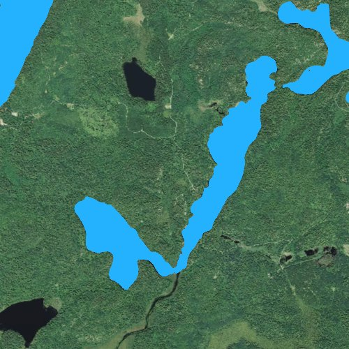 Fly fishing map for Twin Lakes: St. Louis, Minnesota
