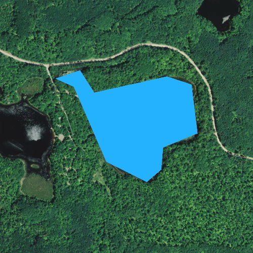 Fly fishing map for Twin Lakes, Wisconsin