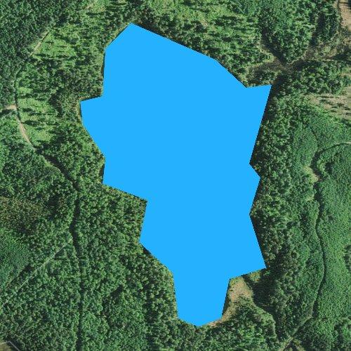 Fly fishing map for Two Deer Lake, Minnesota