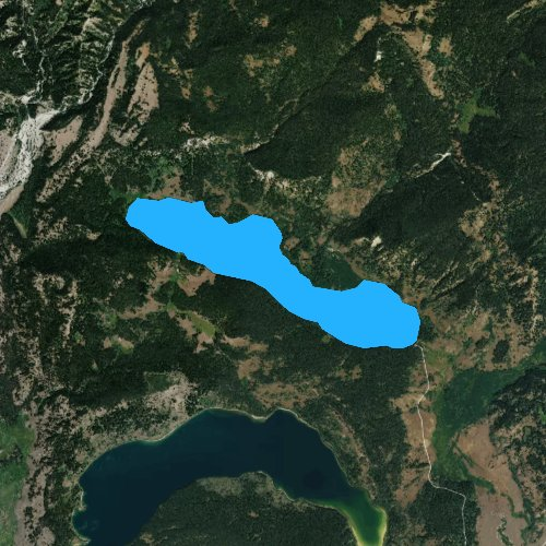 Fly fishing map for Two Ocean Lake, Wyoming
