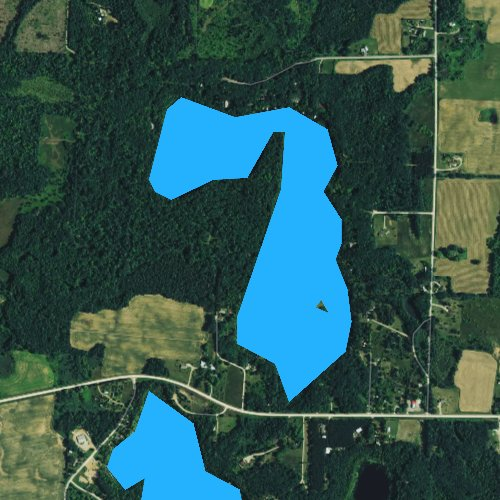 Fly fishing map for Ucil Lake, Wisconsin