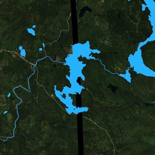 Fly fishing map for Umbagog Lake, New Hampshire