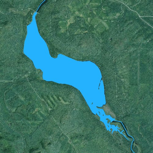 Fly fishing map for Umsaskis Lake, Maine