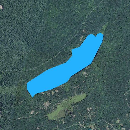 Fly fishing map for Uncas Pond, Connecticut