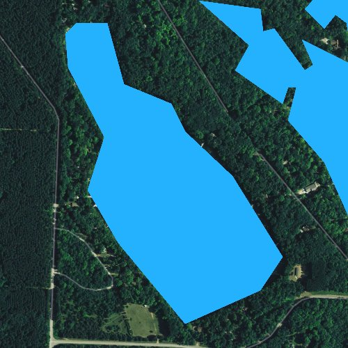 Fly fishing map for Underwood Lake, Wisconsin