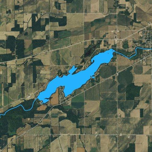 Fly fishing map for Union Lake, Michigan
