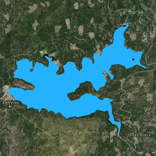 Fly fishing map for Union Valley Reservoir, California