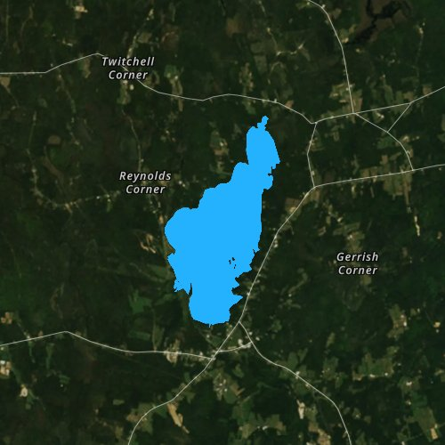 Fly fishing map for Unity Pond, Maine
