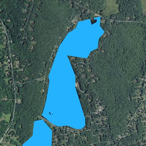 Fly fishing map for Upper Bolton Lake, Connecticut