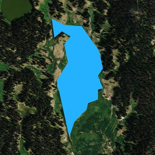 Fly fishing map for Upper Brooks Lakes, Wyoming