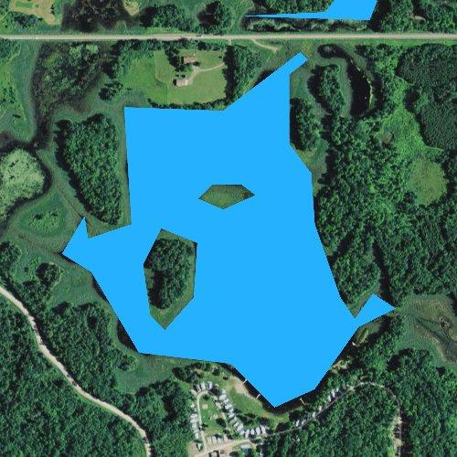 Fly fishing map for Upper Devils Lake, Wisconsin