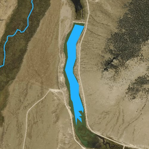 Fly fishing map for Upper Dome Reservoir, Colorado