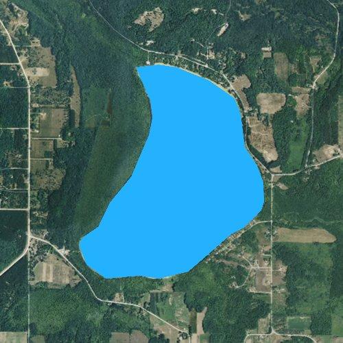 Fly fishing map for Upper Herring Lake, Michigan