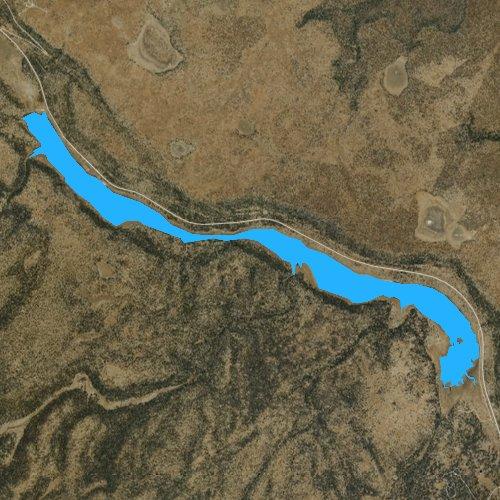 Fly fishing map for Upper Lake Mary, Arizona