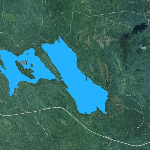 Fly fishing map for Upper Lead Mountain Pond, Maine