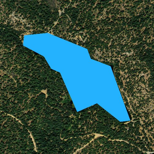 Fly fishing map for Upper Letts Lake, California