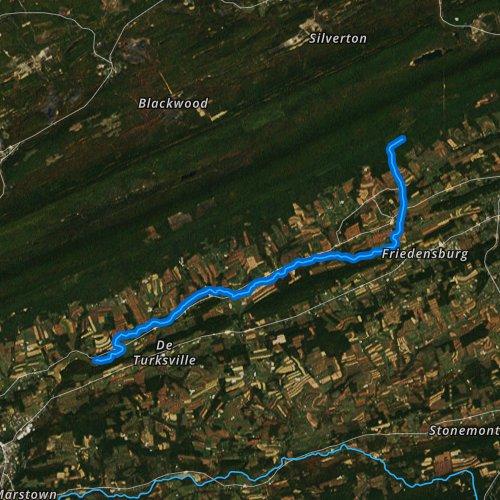 Fly fishing map for Upper Little Swatara Creek, Pennsylvania