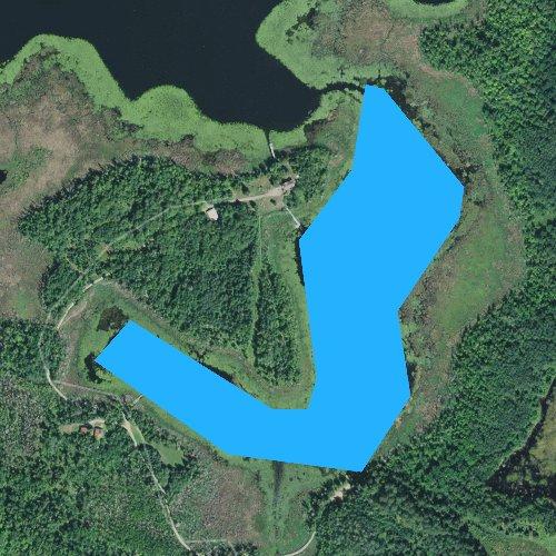 Fly fishing map for Upper Milton Lake, Minnesota