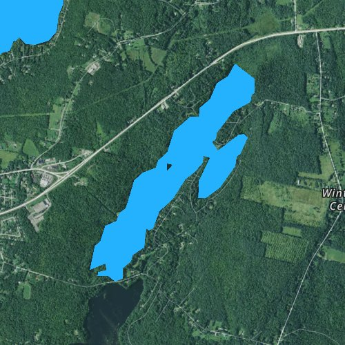 Fly fishing map for Upper Narrows Pond, Maine