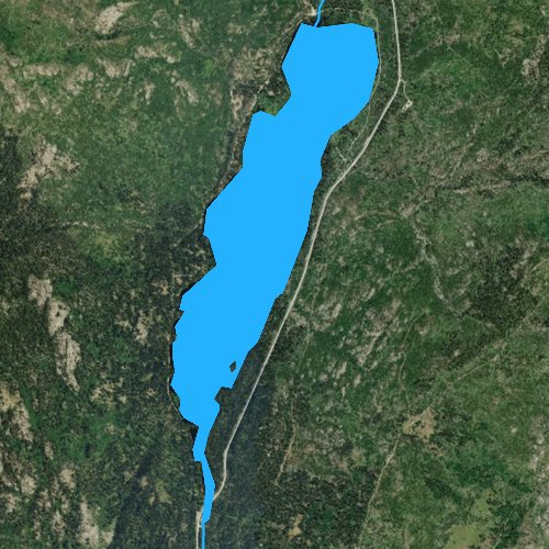 Fly fishing map for Upper Payette Lake, Idaho