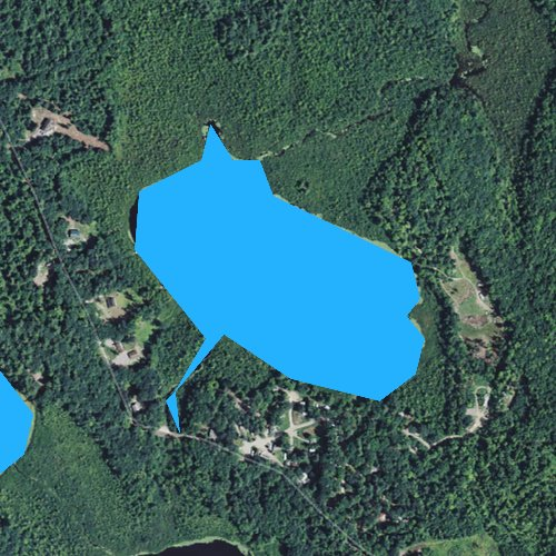 Fly fishing map for Upper Pond, New Hampshire