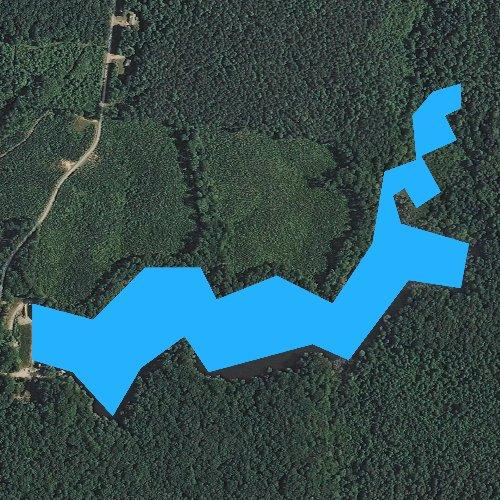 Fly fishing map for Upper Powhatan Lake, Virginia