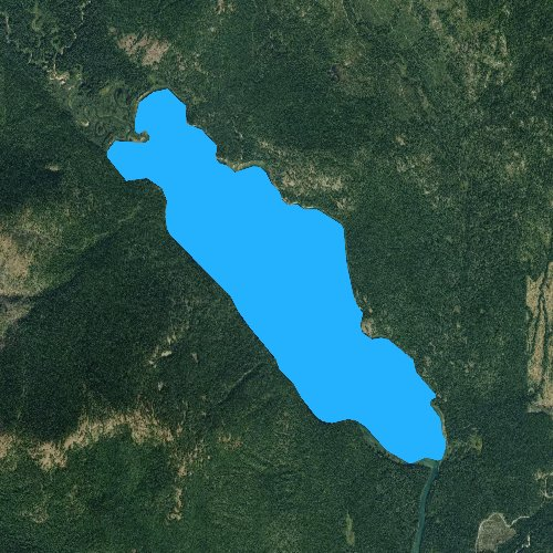 Fly fishing map for Upper Priest Lake, Idaho