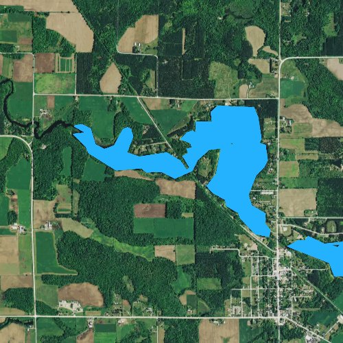 Fly fishing map for Upper Red Lake, Wisconsin
