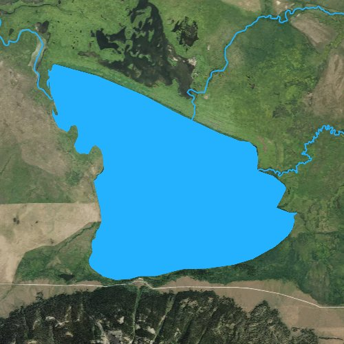 Fly fishing map for Upper Red Rock Lake, Montana