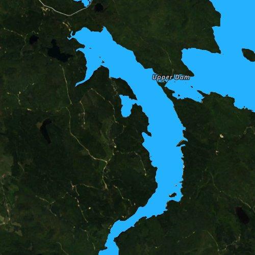 Fly fishing map for Upper Richardson Lake, Maine
