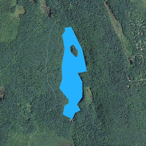 Fly fishing map for Upper Spectacle Pond, Massachusetts