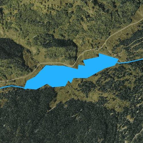 Fly fishing map for Upper Stillwater Reservoir, Colorado