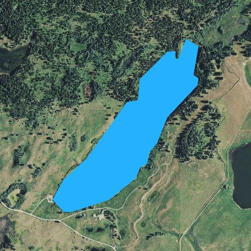 Fly fishing map for Upsata Lake, Montana