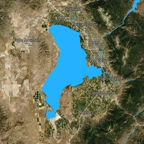 Fly fishing map for Utah Lake, Utah