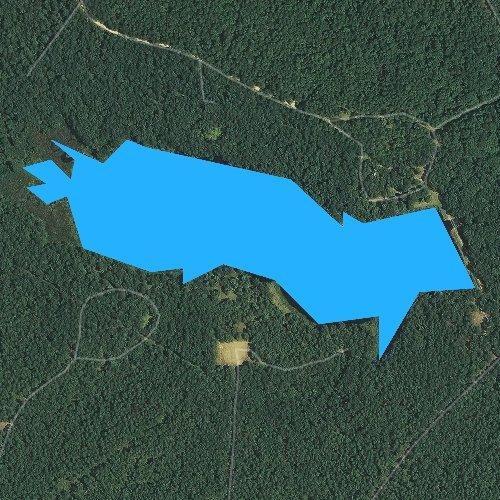 Fly fishing map for Valentine Lake, Louisiana