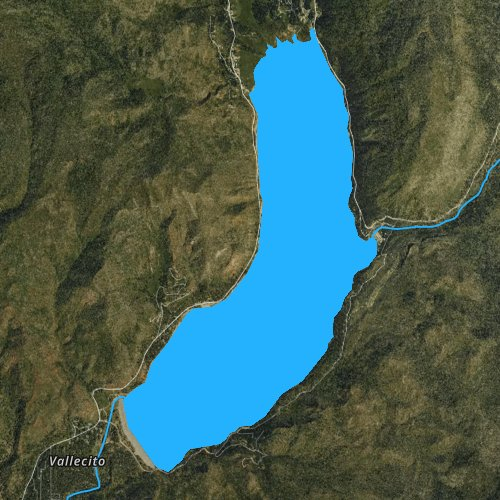Fly fishing map for Vallecito Reservoir, Colorado