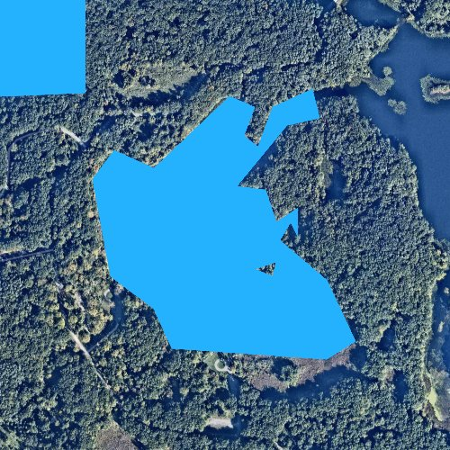 Fly fishing map for Valley Lake, Michigan
