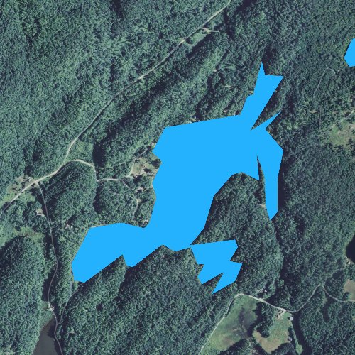 Fly fishing map for Valley Lake, Vermont