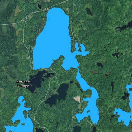 Fly fishing map for Van Vliet Lake, Wisconsin