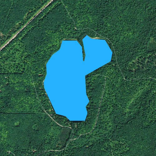 Fly fishing map for Vandercook Lake, Wisconsin