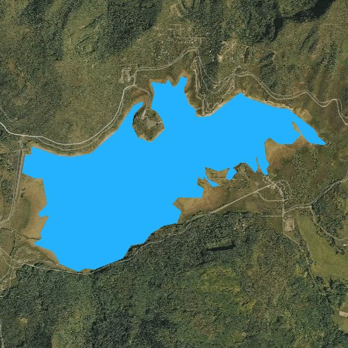 Fly fishing map for Vega Reservoir, Colorado
