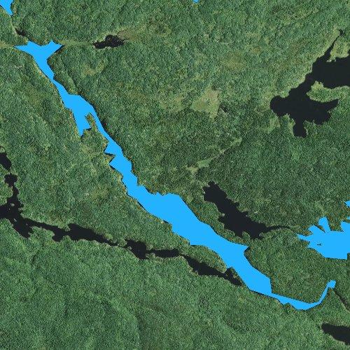Fly fishing map for Vern Lake, Minnesota