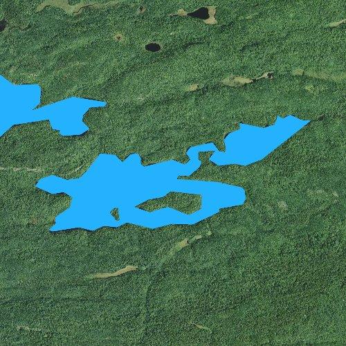 Fly fishing map for Vernon Lake, Minnesota