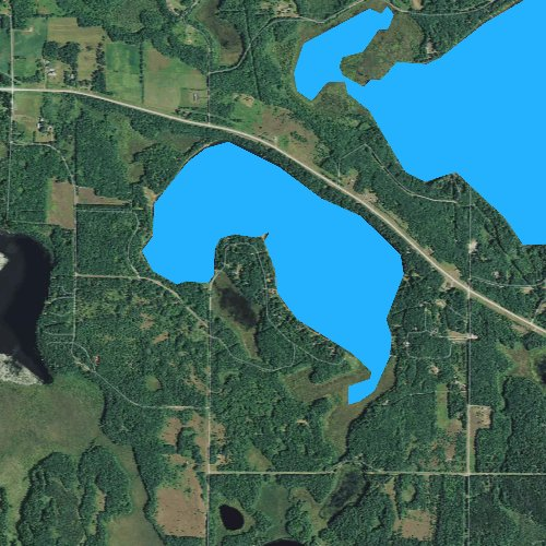 Fly fishing map for Viola Lake, Wisconsin
