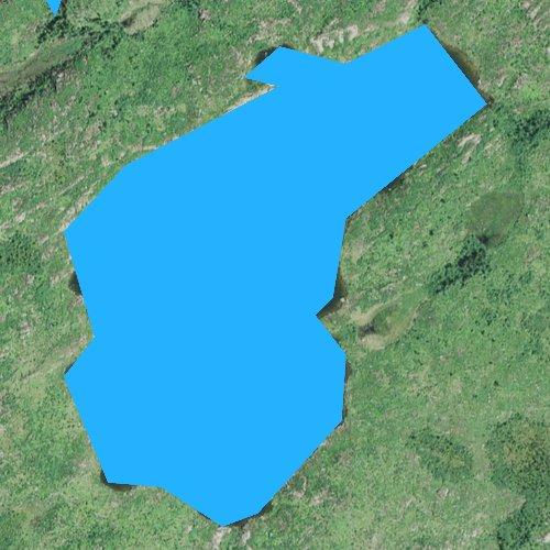 Fly fishing map for Virgin Lake, Minnesota
