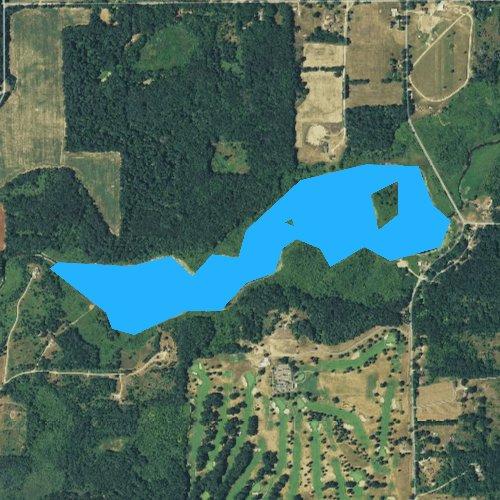 Fly fishing map for Wabascon Lake, Michigan