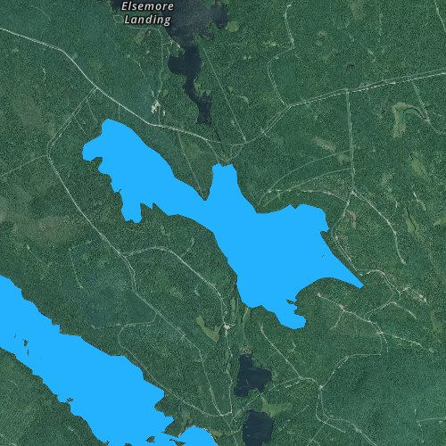 Fly fishing map for Wabassus Lake, Maine
