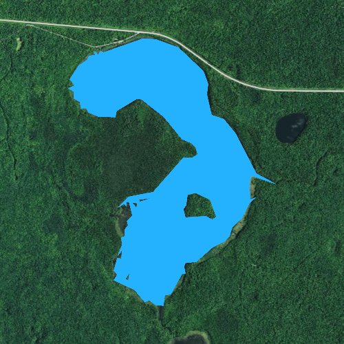 Fly fishing map for Wabikon Lake, Wisconsin