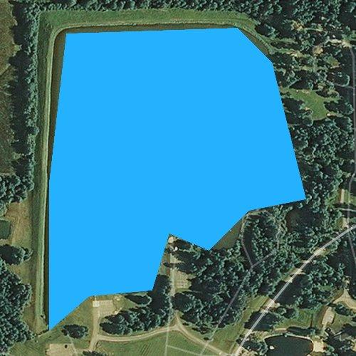 Fly fishing map for Walcot Lake, Arkansas